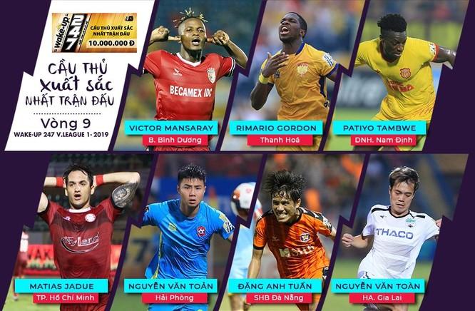 Vòng 9 V-League: Gọi tên Rimario, Văn Toàn ảnh 1