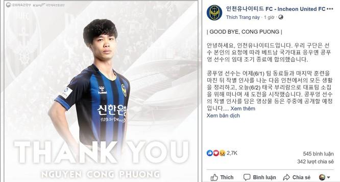 """Incheon United bất ngờ chấm dứt hợp đồng với Công Phượng, cầu thủ Việt """"chưa đủ trình"""" xuất ngoại? ảnh 1"""