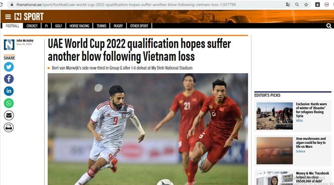 Báo chí UAE nói gì về trận thua của đội nhà trước Việt Nam? ảnh 2