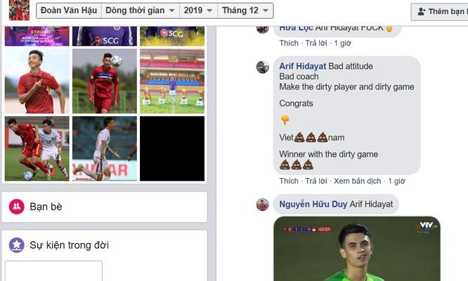 Người hâm mộ Indonesia tấn công trang facebook Đoàn Văn Hậu ngay sau trận đấu ảnh 1