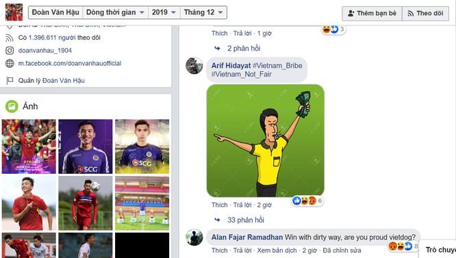 Người hâm mộ Indonesia tấn công trang facebook Đoàn Văn Hậu ngay sau trận đấu ảnh 2