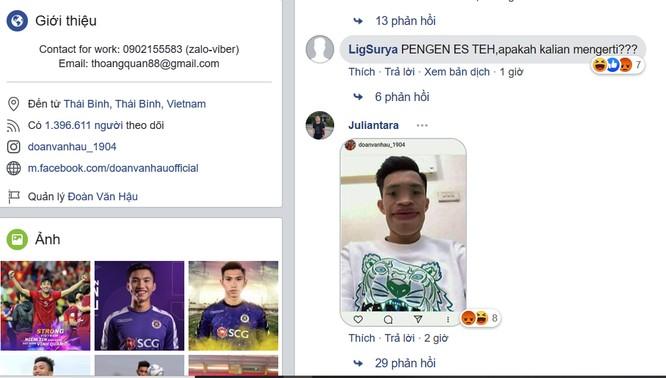 Người hâm mộ Indonesia tấn công trang facebook Đoàn Văn Hậu ngay sau trận đấu ảnh 4