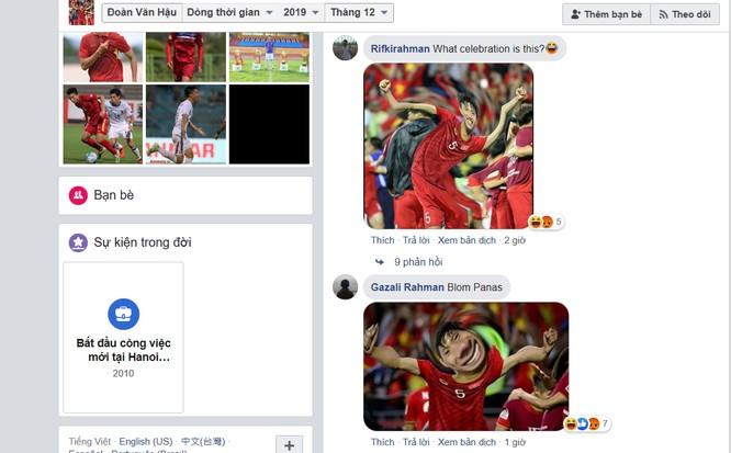 Người hâm mộ Indonesia tấn công trang facebook Đoàn Văn Hậu ngay sau trận đấu ảnh 3