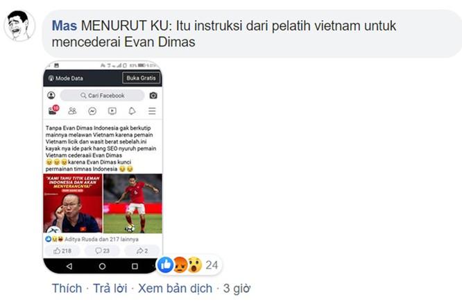 """Thất vọng vì thua đậm, người hâm mộ Indonesia cáo buộc Việt Nam có """"chiến thuật bẩn"""" để giành huy chương vàng bóng đá SEA Games ảnh 1"""