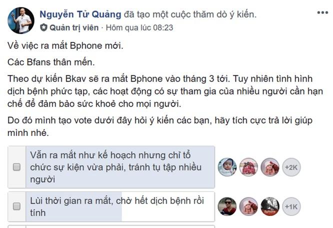 """Bphone 4 vẫn ra mắt đúng hẹn mà không """"sợ"""" virus Corona? ảnh 1"""