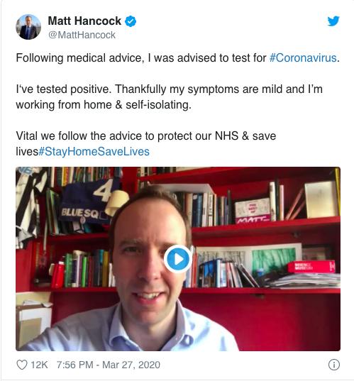 Bộ trưởng Y tế Anh Matt Hancock dương tính với Covid-19 ảnh 1