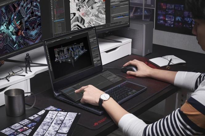 Asus bổ sung vào dòng Republic of Gamers mẫu laptop 2 màn hình độc đáo, màn hình phụ lớn tới 14,1 inch ảnh 2