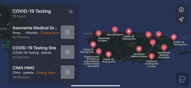 Apple Maps bắt đầu hiển thị địa điểm xét nghiệm Covid-19 tại Mỹ ảnh 1