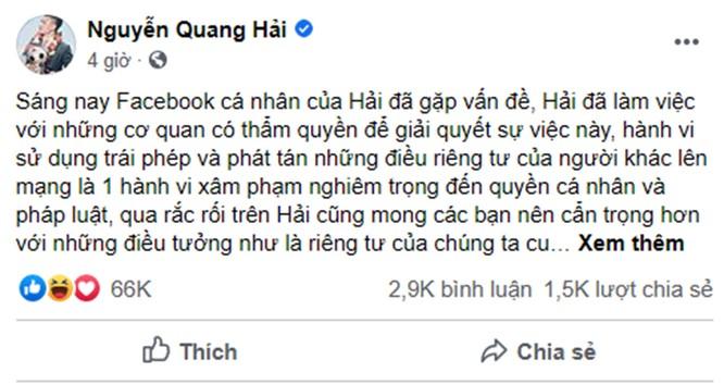 Quang Hải bị hack Facebook, lộ tin nhắn tình cảm riêng tư ảnh 2