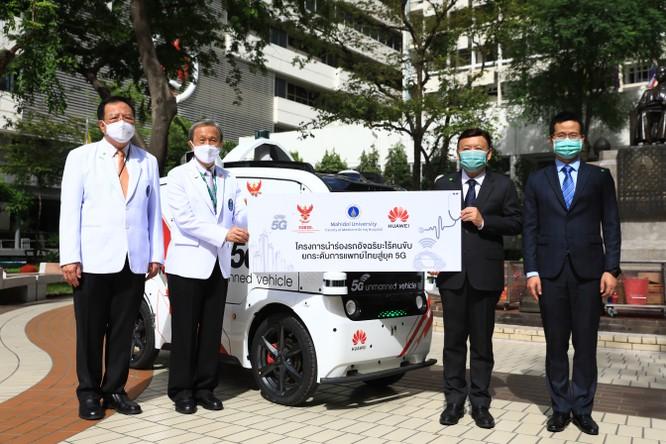 Huawei thử nghiệm xe không người lái 5G tại bệnh viện thông minh Thái Lan ảnh 1