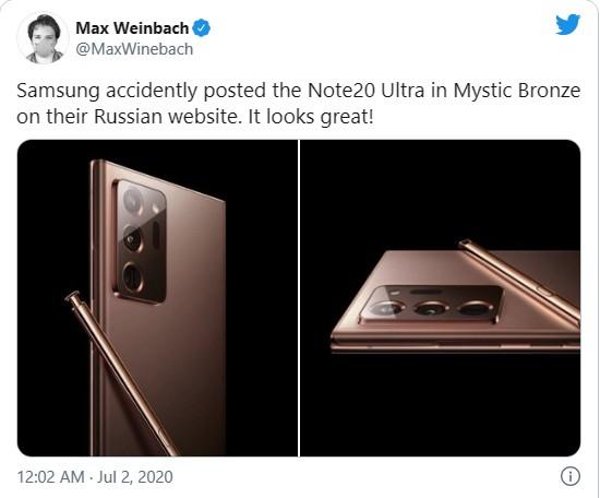 """Samsung """"vô tình"""" để lộ Note 10 Ultra trên website của hãng ảnh 1"""