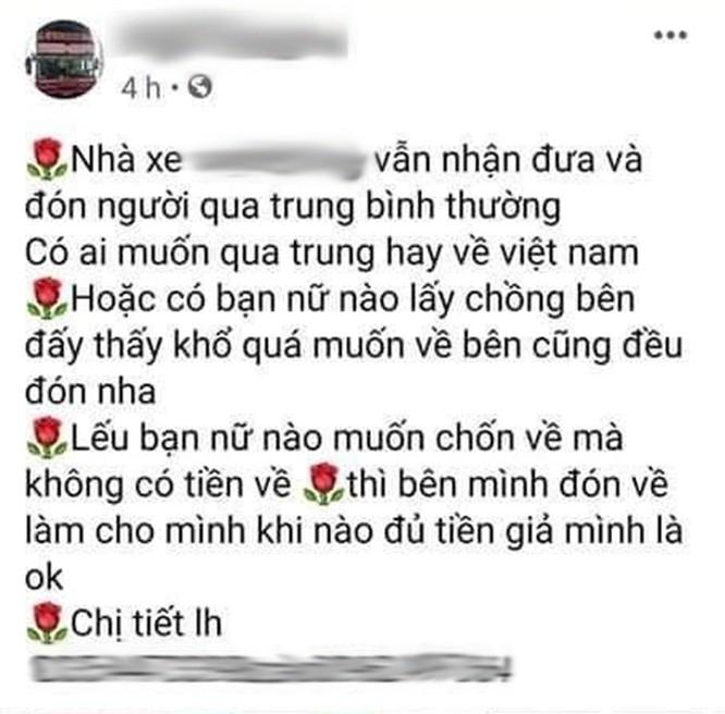 Giật mình với những quảng cáo đưa người qua biên giới Việt - Trung trốn cách ly trên mạng xã hội ảnh 6