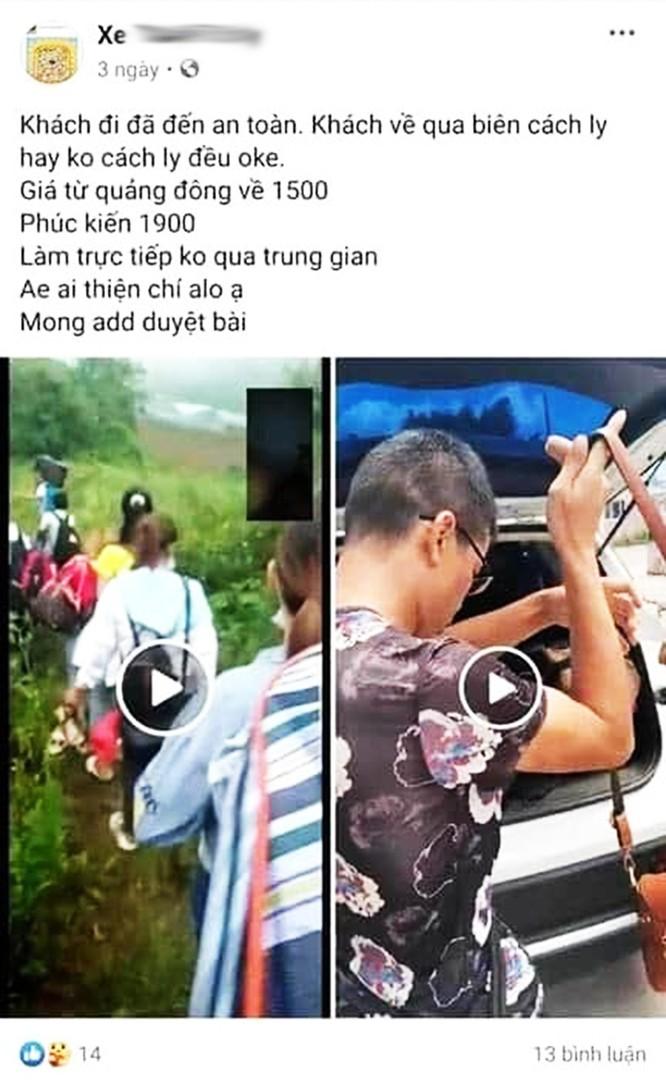 Giật mình với những quảng cáo đưa người qua biên giới Việt - Trung trốn cách ly trên mạng xã hội ảnh 5