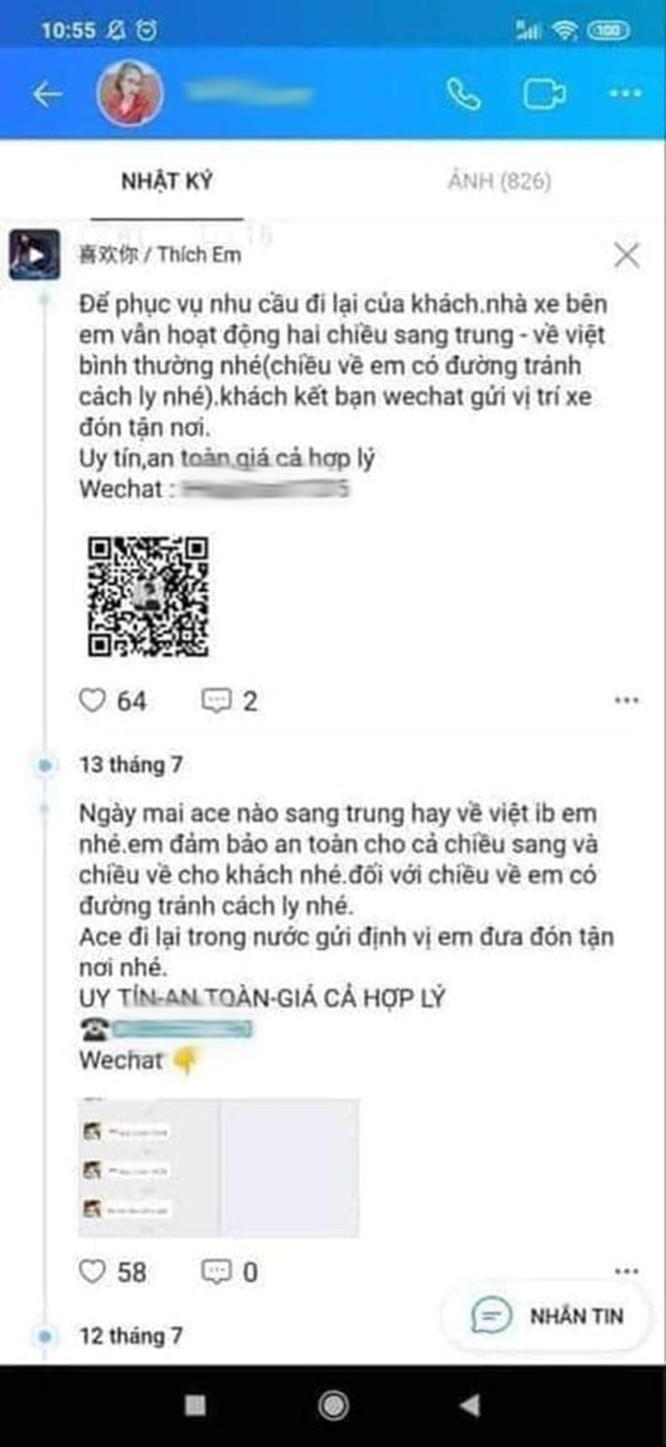 Giật mình với những quảng cáo đưa người qua biên giới Việt - Trung trốn cách ly trên mạng xã hội ảnh 4