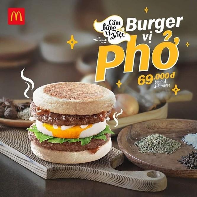 Dân mạng tranh cãi việc McDonald's ra mắt Burger vị phở ảnh 1