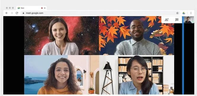 Google Meet cho phép tuỳ chỉnh phông nền phía sau người trò chuyện ảnh 1
