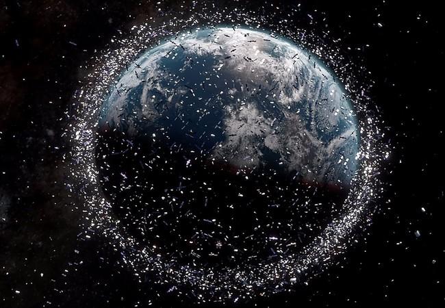Mô phỏng lượng rác thải trên vũ trụ (Ảnh ESA)