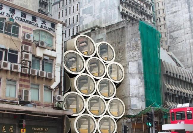 Độc đáo những ngôi nhà ống cống 10m2 – giải pháp hiệu quả về nhà ở cho thành phố đắt đỏ nhất thế giới ảnh 8
