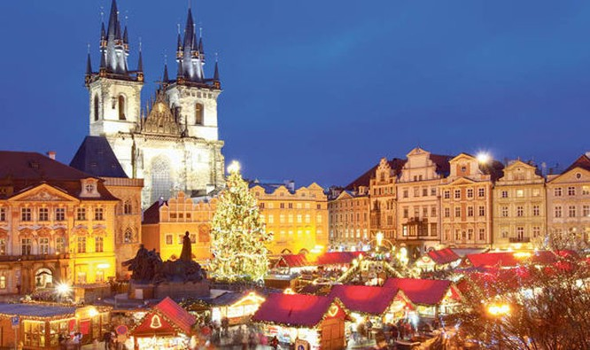 Giáng sinh đầy màu sắc ở Prague (Ảnh: Getty Images)