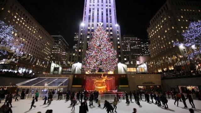 Không khí Giáng sinh ở Trung tâm Rockefeller (Ảnh: Getty Images)