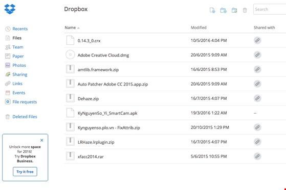 Cách kiểm tra xem tài khoản của bạn có bị rò rỉ trên mạng - 2Dropbox từng bị tấn công hồi năm 2012. Ảnh: T.MINH