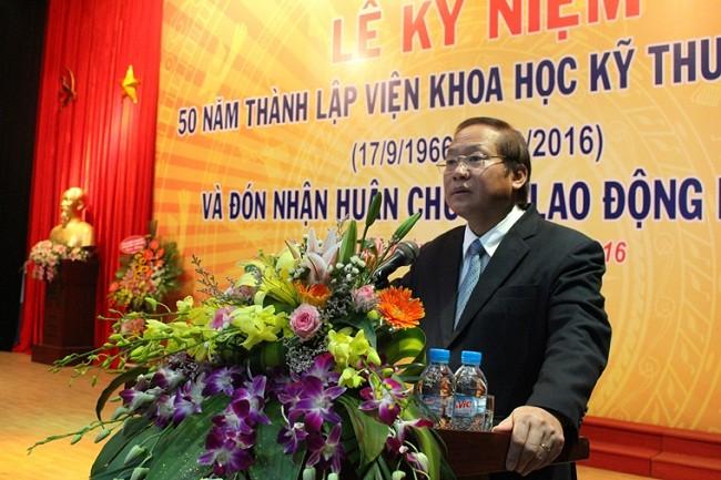 Bộ trưởng Bộ TT&TT Trương Minh Tuấn phát biểu tại Lễ kỷ niệm.