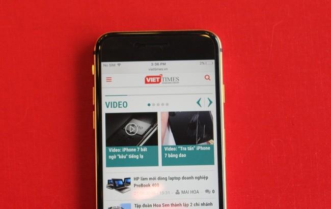 Cận cảnh bộ đôi iPhone 7 mạ vàng 24k tại Việt nam ảnh 10