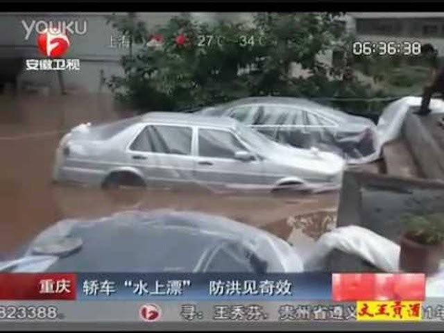Cho ôtô vào túi ni lông sẽ là cứu cánh cho vùng lụt ảnh 3