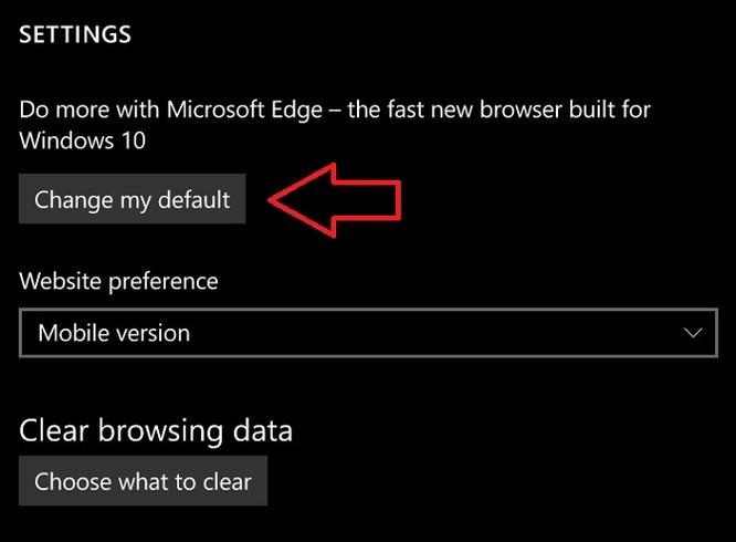 Windows 10 Mobile sẽ cho phép đổi trình duyệt mặc định ảnh 1