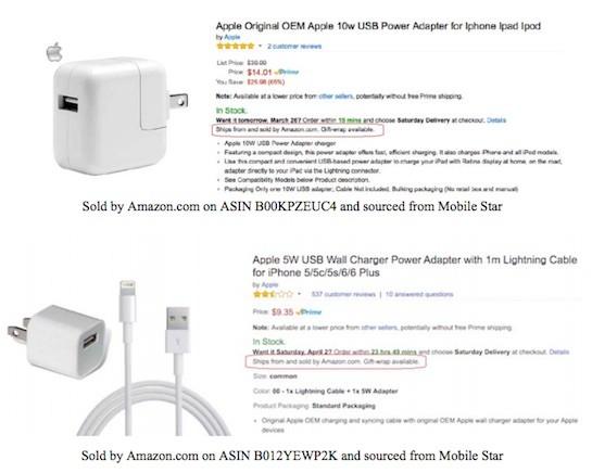 """90% sạc, cáp iPhone """"chính hãng"""" trên Amazon là đồ nhái ảnh 1"""