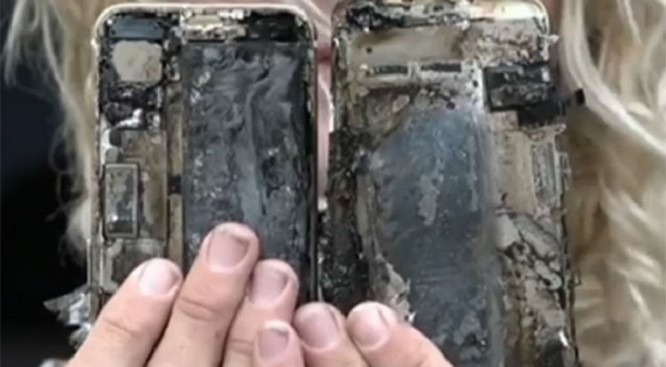 iPhone 7 bắt lửa và phát nổ trên xe hơi ảnh 2