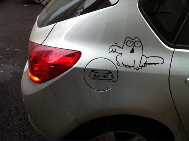 """""""Ngả mũ"""" trước những cách trang trí ô tô sáng tạo và hài hước ảnh 3"""