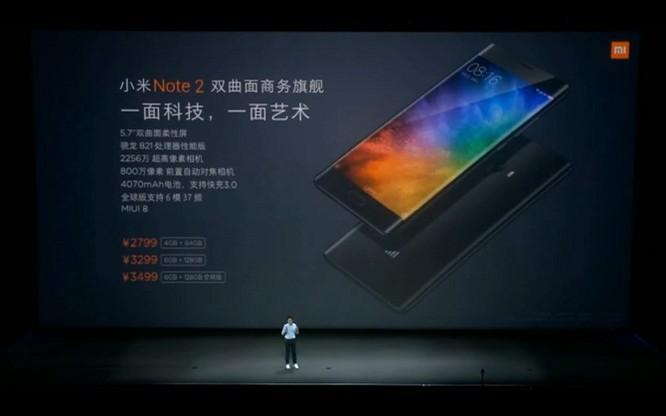 Xiaomi Mi Note 2 chính thức: màn hình cong giống Note 7, camera 22.56 MP ảnh 8