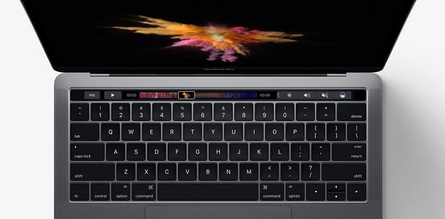 Macbook Pro mới có cảm biến vân tay Touch ID thế hệ thứ 2.