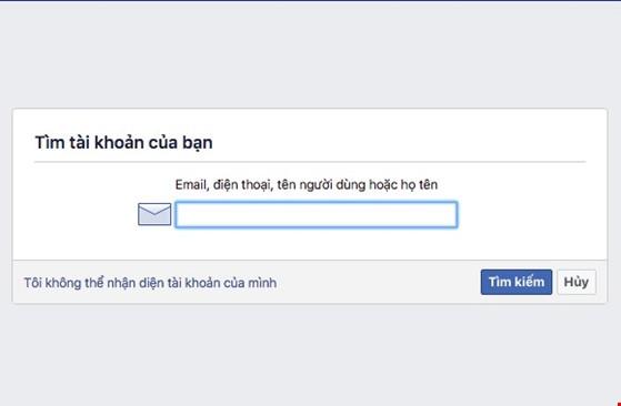 3 bước giúp lấy lại mật khẩu Facebook ảnh 1