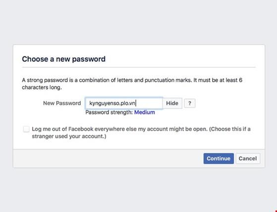 3 bước giúp lấy lại mật khẩu Facebook ảnh 4