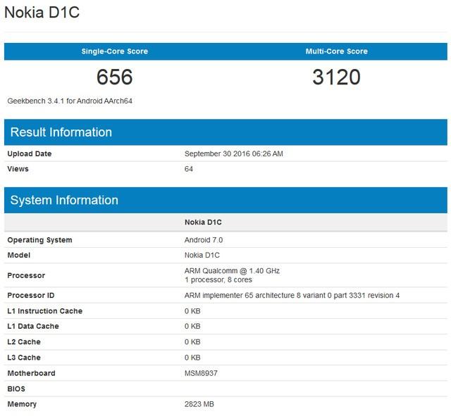 Nokia D1C rò rỉ thiết kế và cấu hình tầm trung ảnh 2