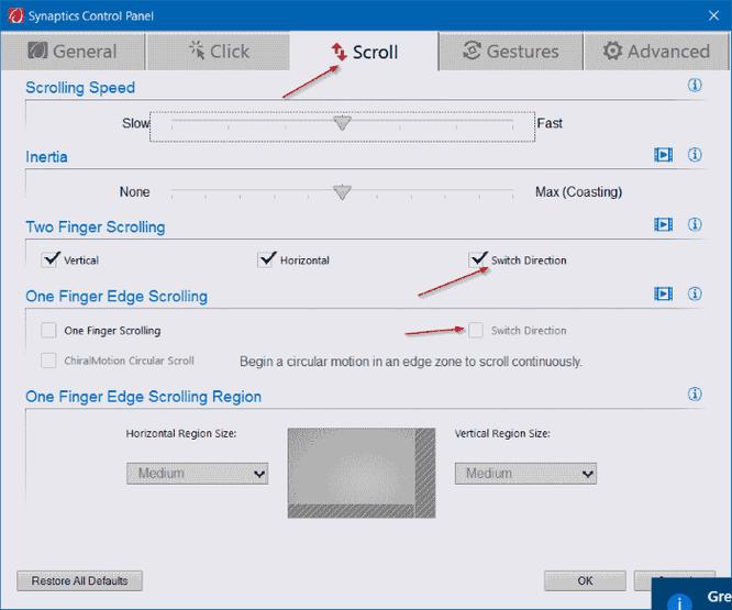 Thay đổi hướng cuộn trang của Touchpad trên Windows 10 ảnh 3