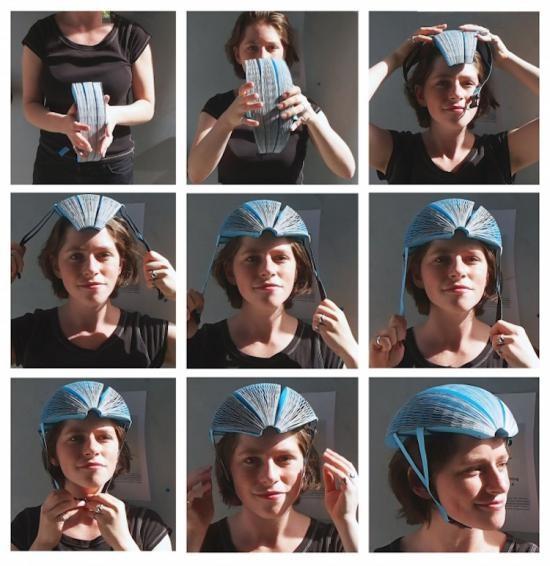 Video: Độc đáo mũ bảo hiểm xe đạp làm từ… giấy tái chế ảnh 2