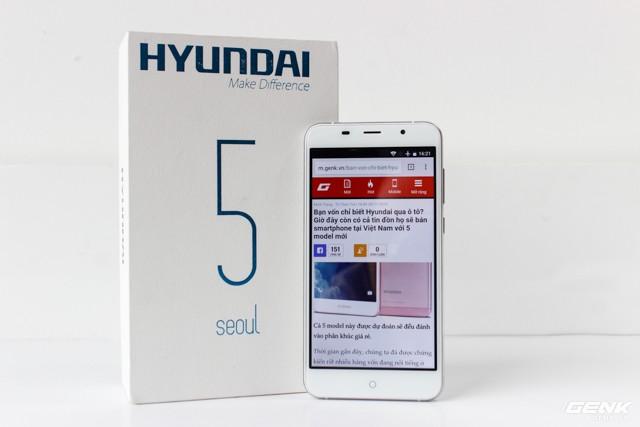 Cận cảnh smartphone đầu tiên của Huyndai tại Việt Nam ảnh 3