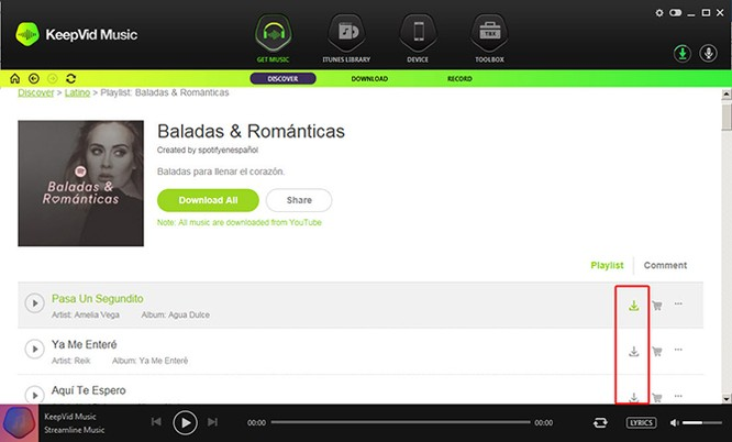 Tải và thu âm nhạc số với phần mềm KeepVid Music ảnh 3