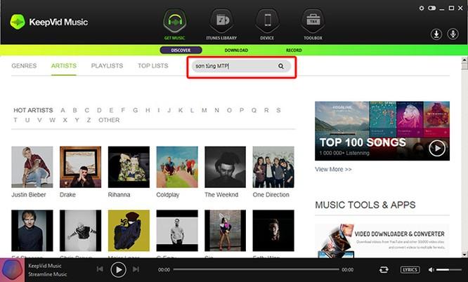 Tải và thu âm nhạc số với phần mềm KeepVid Music ảnh 4