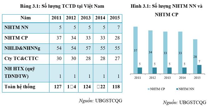 Việt Nam còn bao nhiêu tổ chức tín dụng? ảnh 1