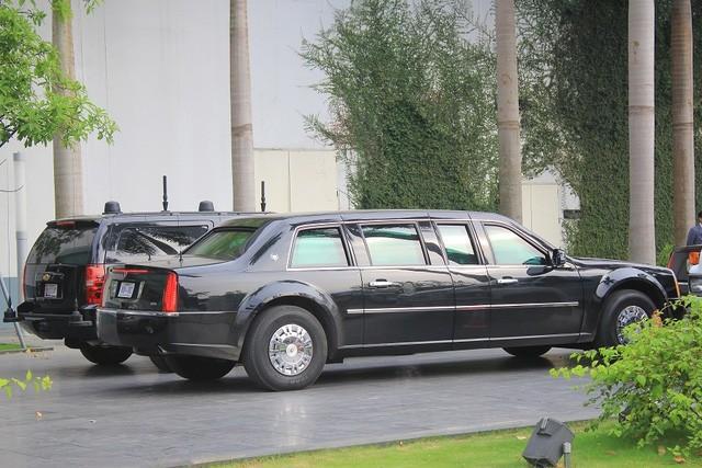 Đoàn xe đón ông Obama đã rời khách sạn đến Sân bay Nội Bài ảnh 5