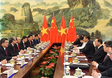 Thủ tướng Nguyễn Xuân Phúc hội kiến Tổng Bí thư, Chủ tịch nước Trung Quốc Tập Cận Bình ảnh 1
