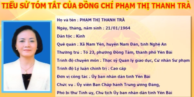 Chủ tịch Yên Bái Phạm Thị Thanh Trà được bầu làm Bí Thư Tỉnh ủy với 100% phiếu bầu ảnh 1