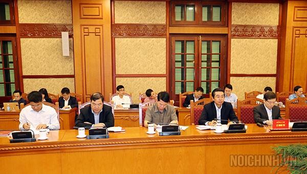Các đồng chí tham dự Cuộc họp