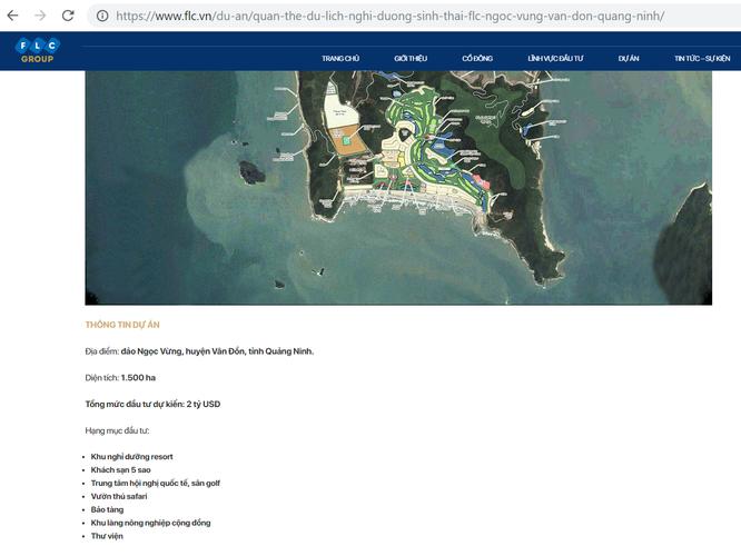 Mời sơ tuyền dự án Khu nghỉ dưỡng 4.200 tỷ đồng ở đảo Ngọc Vừng: FLC có tham gia? ảnh 1