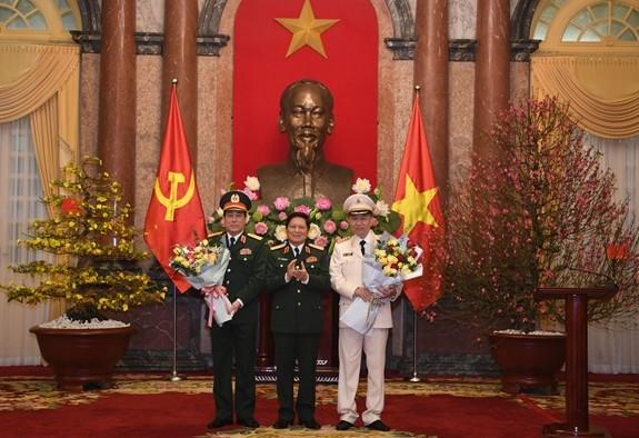 Ba vị Đại tướng hiện đang phục vụ trong các lực lượng vũ trang Việt Nam (Ảnh: QĐND)