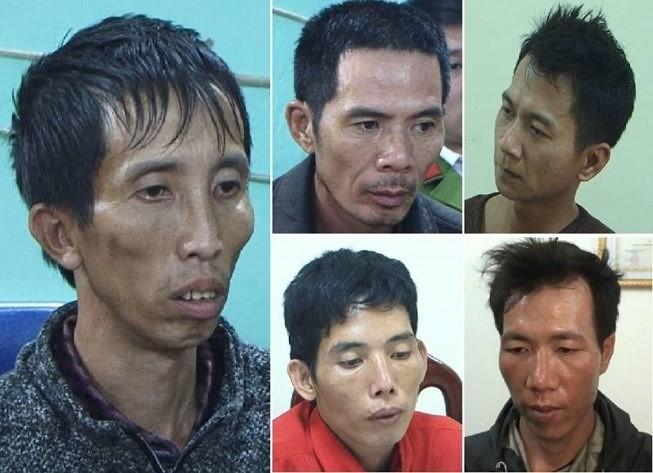 5 kẻ đã sát hại, hiếp dâm nữ sinh.